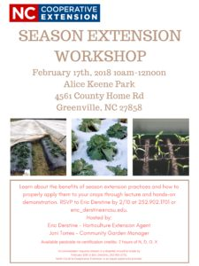 Cover photo for Season Extension Workshop