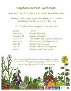 Cover photo for Vegetable Garden Workshops