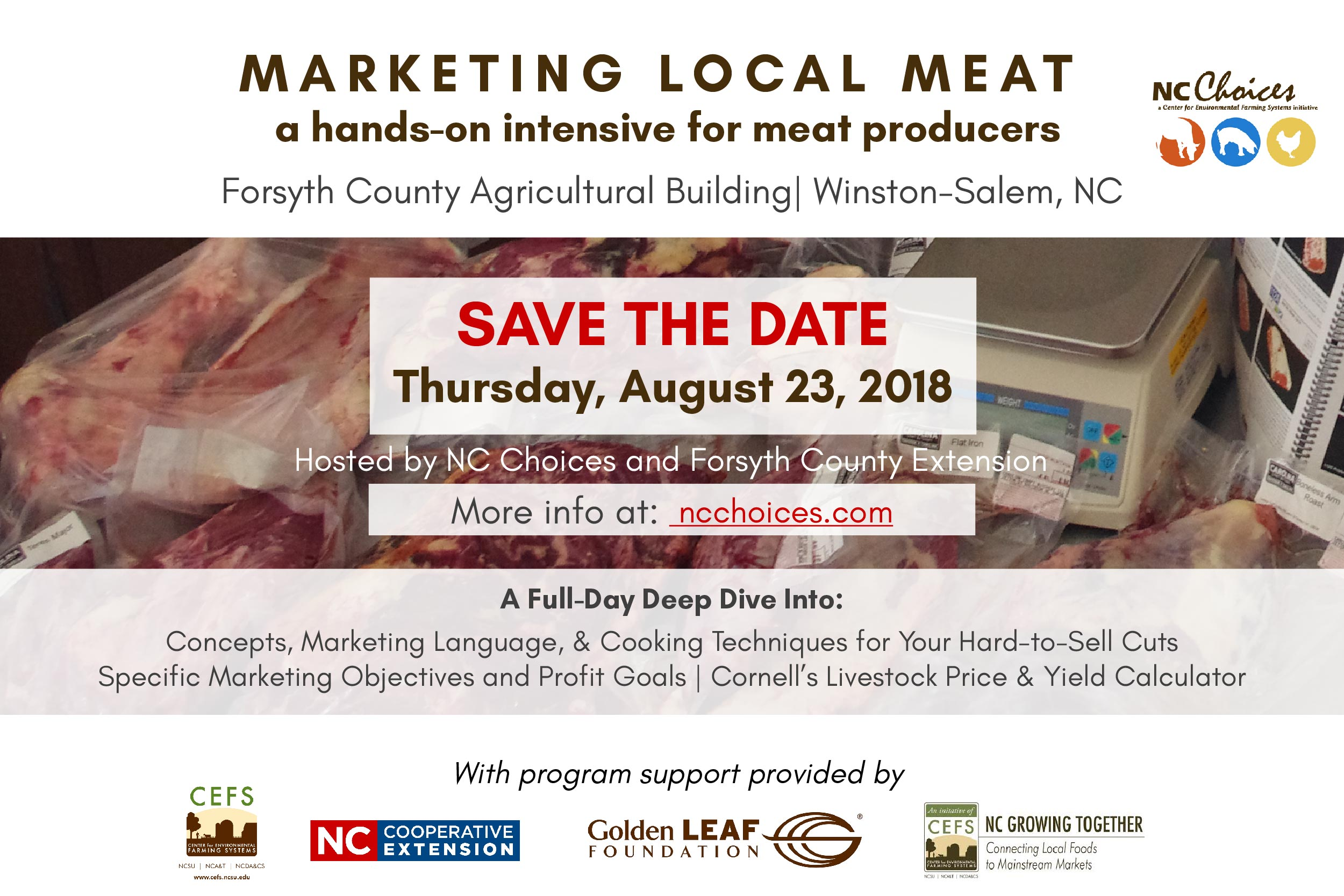 Marketing Local Meat flyer image