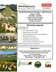 Cover photo for Small Ruminant Workshop 2018