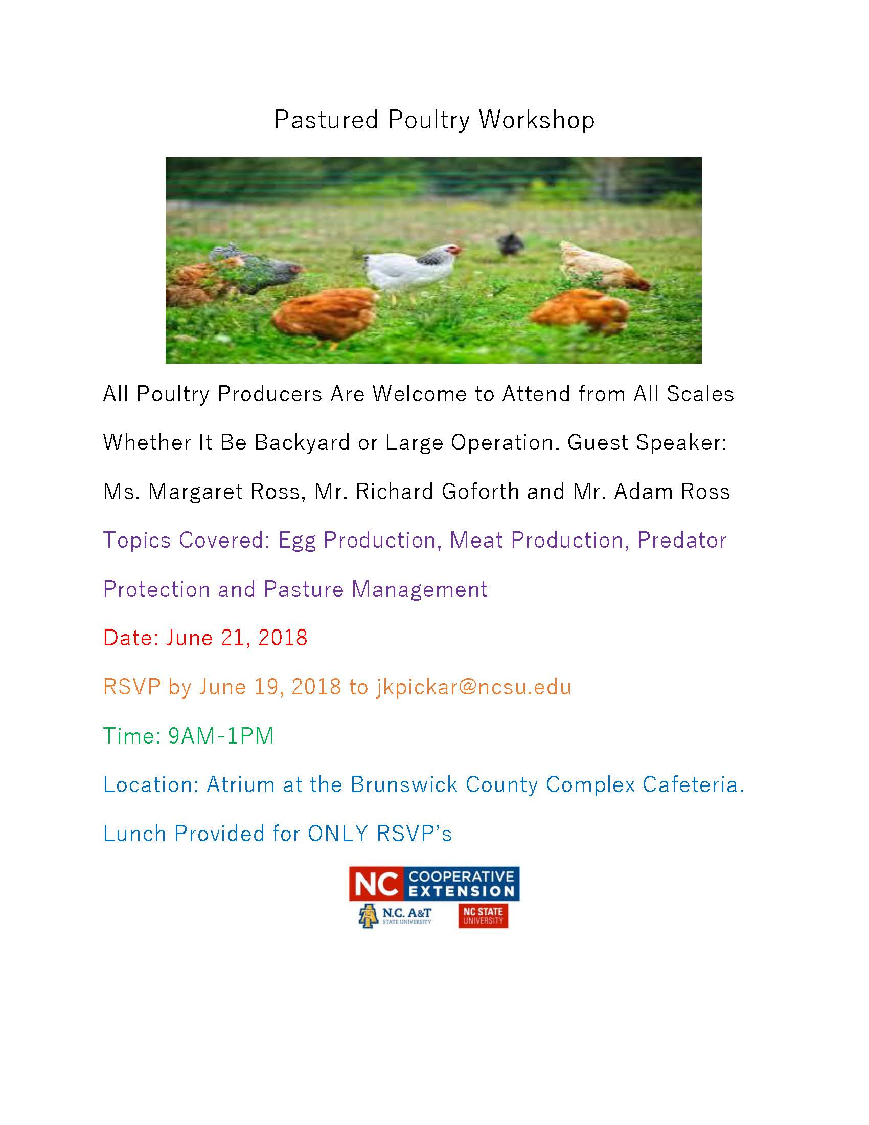 Pasteurized Poultry Workshop flyer image