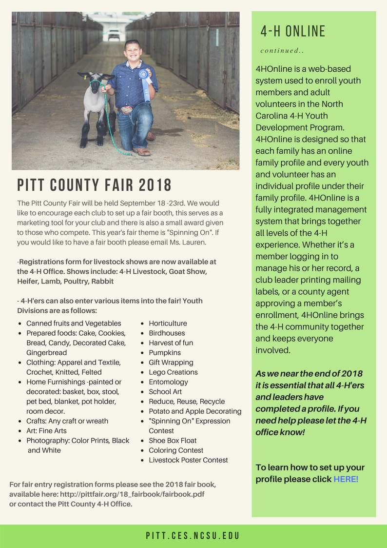 Fall 2018 Newsletter page 2