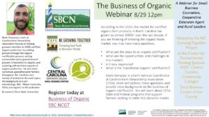 Cover photo for Register for NCGT's August Food and Farm Business Development Webinar, August 29, 2018