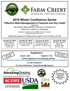 Cover photo for 2019 Winter Conference Series: Effective Weed Management in Pastures & Hay Fields