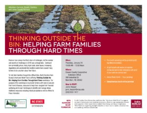 Cover photo for Thinking Outside the Bin: Helping Farm Families Through Hard Times
