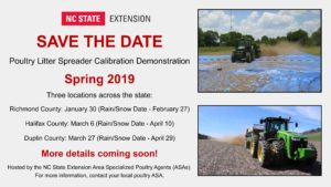 Cover photo for Poultry Litter Spreader Calibration Demonstration