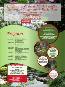 Cover photo for 21st Annual Eastern North Carolina Landscape Conference and Trade Show