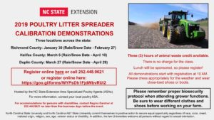Cover photo for Poultry Litter Spreader Calibration Demonstrations