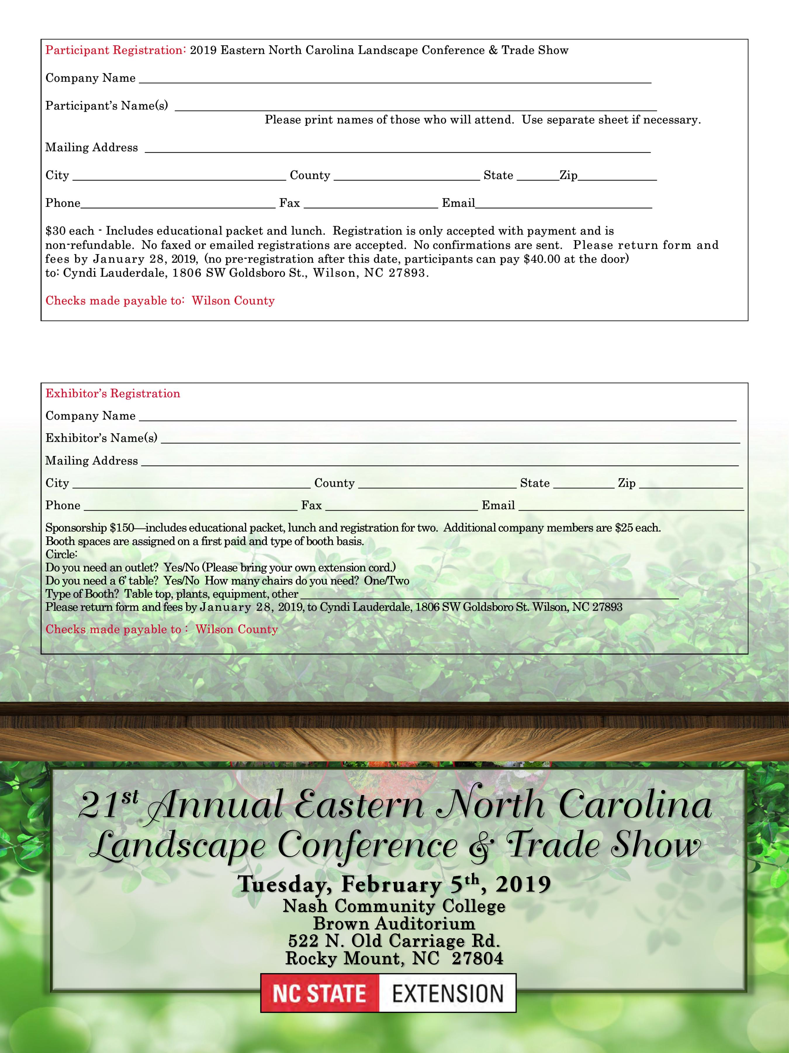 21st Annual Eastern North Carolina Landscape Conference and
