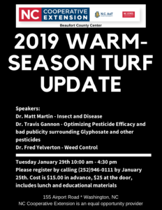 Cover photo for 2019 Warm Season Turf Update