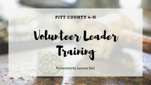 Cover photo for 4-H Volunteer Leader Training