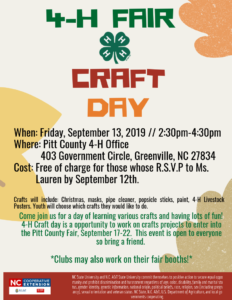 Cover photo for 4-H Fair Craft Day