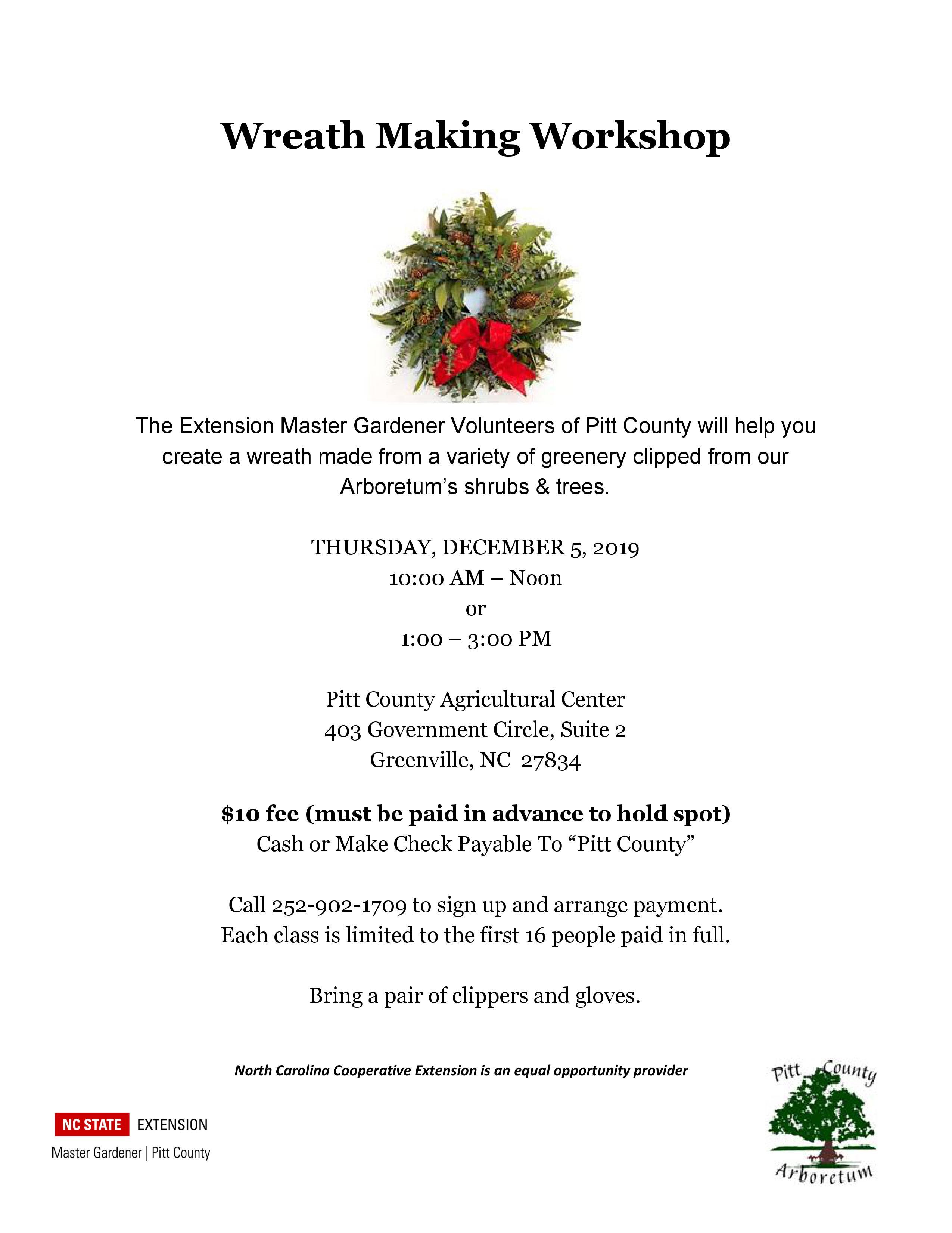 Wreath Making Workshop flyer image
