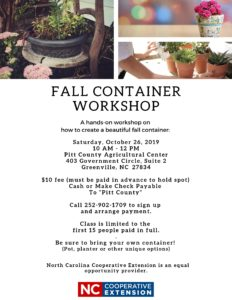 Cover photo for Fall Container Workshop