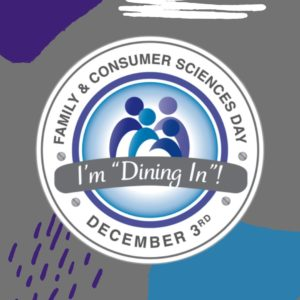 Cover photo for December 3 Is Dining In Day!