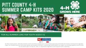 Cover photo for Pitt County 4-H Summer Camp Kits 2020