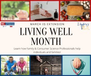 Cover photo for March Is Living Well Month!