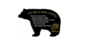 drawing of black bear with BearWise info inside