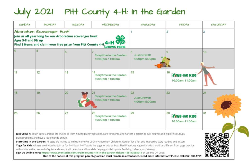 Garden event calendar